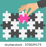 different thinking concept.... | Shutterstock .eps vector #370039175