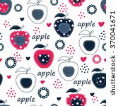 Seamless Pattern With Apples ...