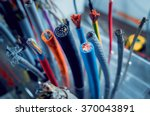 Electrical equipment. Background and texture - stock photo