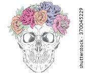 skull wearing a crown of...