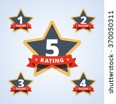 set of a rating stamp  badge.... | Shutterstock .eps vector #370050311
