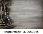 old film  on wooden background  | Shutterstock . vector #370053845
