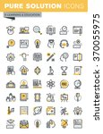 set of modern vector thin line...   Shutterstock .eps vector #370055975