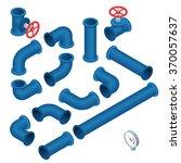 vector 3d flat isometric... | Shutterstock .eps vector #370057637