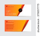 orange gift voucher template.... | Shutterstock .eps vector #370057775