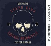 vintage road king t shirt... | Shutterstock .eps vector #370057805