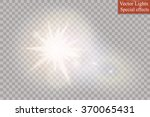 glow special effect light ... | Shutterstock .eps vector #370065431