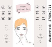 create your own face. the set... | Shutterstock .eps vector #370067711