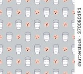 cute seamless pattern with milk ... | Shutterstock .eps vector #370080191