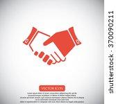 handshake  icon | Shutterstock .eps vector #370090211