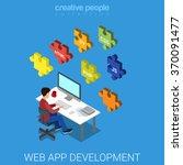 web application software... | Shutterstock .eps vector #370091477