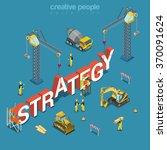 strategy creation process flat... | Shutterstock .eps vector #370091624