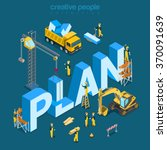 plan creation process flat 3d... | Shutterstock .eps vector #370091639