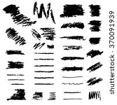 set of hand drawn brushes.... | Shutterstock .eps vector #370091939