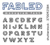 Monogram Logo Font Vector...