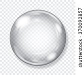 big transparent glass sphere... | Shutterstock .eps vector #370092857