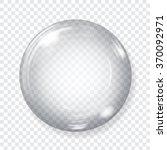 big transparent glass sphere... | Shutterstock .eps vector #370092971