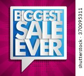 biggest sale ever lilac... | Shutterstock .eps vector #370095311