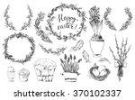 hand drawn easter design... | Shutterstock .eps vector #370102337