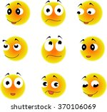 set of glossy emoticon | Shutterstock .eps vector #370106069