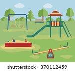 kids playground. vector... | Shutterstock .eps vector #370112459