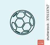 football soccer icon logo line...