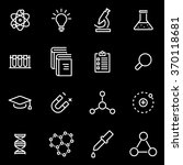 vector line science icon set | Shutterstock .eps vector #370118681