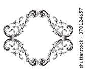vintage baroque frame scroll... | Shutterstock .eps vector #370124657