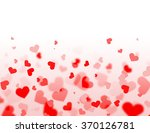 red and pink hearts background... | Shutterstock . vector #370126781