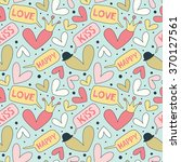 cartoon patterns for cute... | Shutterstock .eps vector #370127561