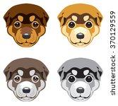 puppy' muzzle. set of vector...   Shutterstock .eps vector #370129559