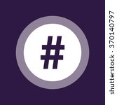 hashtag icon. vector... | Shutterstock .eps vector #370140797
