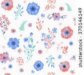 seamless pattern with flowers... | Shutterstock .eps vector #370146149