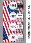 set of modern gift voucher... | Shutterstock .eps vector #370154537
