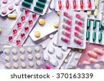 medicine green and yellow pills ... | Shutterstock . vector #370163339
