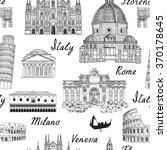 travel europe background. italy ... | Shutterstock .eps vector #370178645