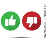 thumbs up  thumbs down | Shutterstock .eps vector #370181147