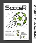 soccer championship line... | Shutterstock .eps vector #370186355