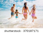 happy family having fun on the... | Shutterstock . vector #370187171