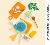 flat lay design vertical banner ... | Shutterstock .eps vector #370190867