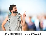 backpacker thinking over... | Shutterstock . vector #370191215