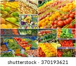 collage of different grocery... | Shutterstock . vector #370193621
