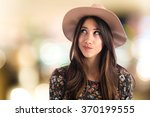 cute woman thinking | Shutterstock . vector #370199555