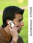 casual guy talking on a mobile... | Shutterstock . vector #370200