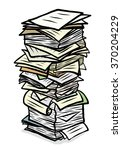 stack of used papers   cartoon... | Shutterstock .eps vector #370204229