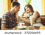 date at the cafe | Shutterstock . vector #370206695