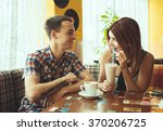 date at the cafe | Shutterstock . vector #370206725