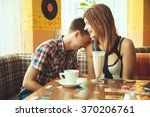 date at the cafe | Shutterstock . vector #370206761