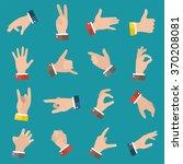 open empty hands showing... | Shutterstock .eps vector #370208081