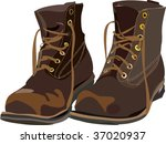 Vector Old Brown Boots.  Items...